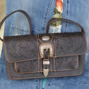 Quality American West Hand Tooled Leather Handbag